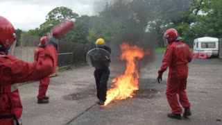 Express & Star journalist, Juliet Hounam, experiences petrol bomb training - Video