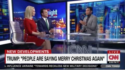 CNN's Don Lemon Accuses Trump of 'Merry Christmas' Dog Whistle Conspiracy