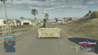 Battlefield Hardline: Drivable Couch Easter Egg - Video