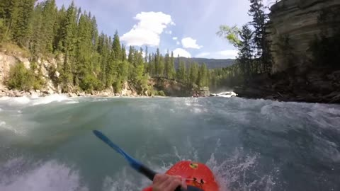 Extreme whitewater kayaking on the Fraser River