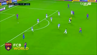 Leo Messi dribbles all Espanyol players - Video