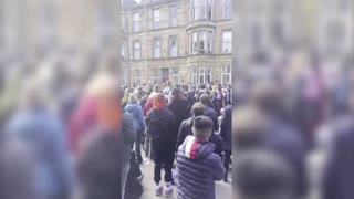 Glasgow protesters in standoff with UK immigration van