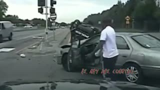 Traffic Accident caught on tape — Who's at fault? - Video