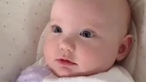 Adorable baby doesn't think she's beautiful!