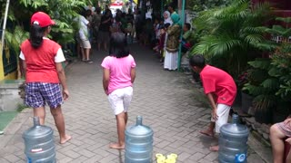 children playing game in the party  - Video