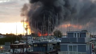 Massive explosion at chemical factory in UK Marina