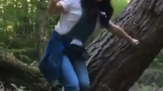 Collab copyright protection - chiko overalls tree fall fail - Video