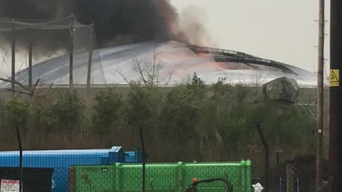 Fire at Chester Zoo
