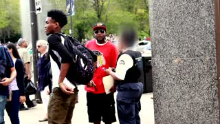 Magician pickpockets wallet from police officer! - Video