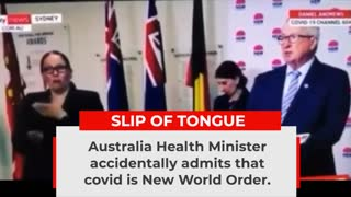 """Covid is New World Order"" says Australian Health minister"