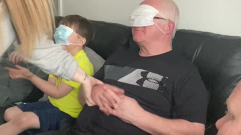 Pup Involved in Blindfold Prank