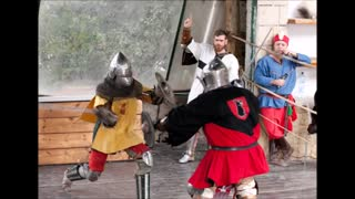 Cultures form around the world - Knights fighting in medieval style Episode 9 - Video