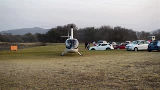 Chopper Pilot Almost Bites The Dust After Hitting Power Lines - Video