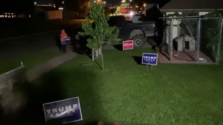 People Attempting to Take Yard Signs Met with Paintballs