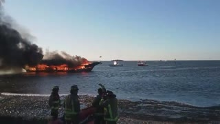 50 Rescued From Casino Boat Fire in Florida - Video
