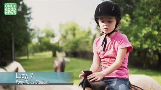 3-Legged Pony Teaches 'NEVER GIVE UP!' - Video