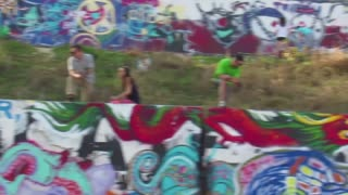 Graffiti Park in Austin Tx.   - Video