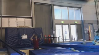 Two guys jumping tumbling fails - Video