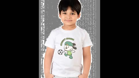 Kids Black Colour Tee Shirts