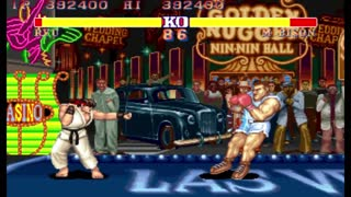Street Fighter 2 - The World Warrior JPN - Ryu Complete Playgame - Not Perfect