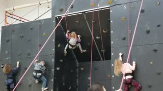 Bri Rock Climbing Inverted Wall