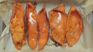 How To Make Loaded Sweet Potato Skins - Video