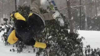 Collab copyright protection - sideflip snowboard fall fail - Video