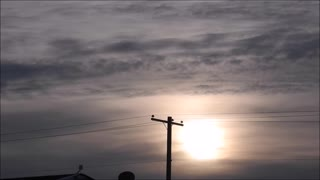 Jan 18th Sunset Behind Clouds  - Video