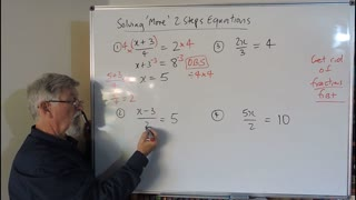 Math Equations Set A 03 More 2 Step Equations Mostly for Years/Grade 7, 8 and 9