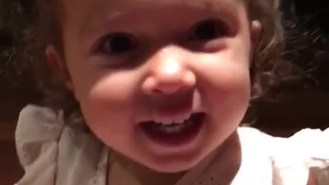 Little girl hysterically laughs at her own farts