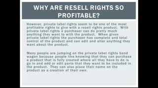 Why Are Resell Rights So Profitable