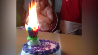 Unconventional Candles Ruin Girl's Birthday - Video