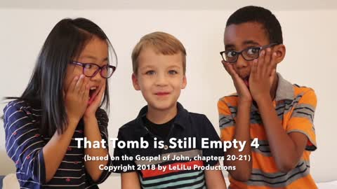 Little kids preciously explain the story of Easter