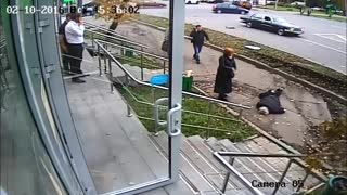 Reckless Car Crashes onto Sidewalk Causing Injury and Death - Video
