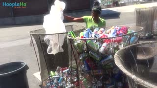 Student Recycles To Help Smile Train Charity - Video