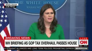 White House Grilled Over Trump's Potential Personal Benefit From Tax Bill - Video