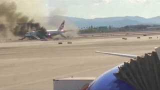 Amateur video captured harrowing British Airways fire - Video