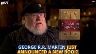 "George R.R. Martin Announces New Illustrated ""Game Of Thones"" - Video"