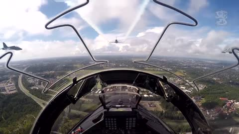 Point-of-view experience aboard a Combat Fighter Jet!