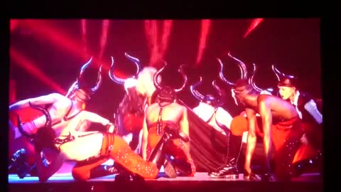 Madonna falls off stage Brit Awards 2015