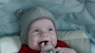 5 months old baby laughing out loud  - Video