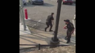 Police Officer Frightened While On The Job - Video