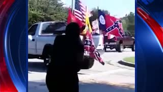 Raw Video of Confederate Flag Rally, Birthday Party Attendees Clashing - Video