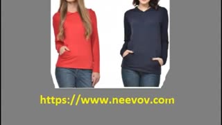 Fuchsia Colour Womens Hooded T Shirts - Video