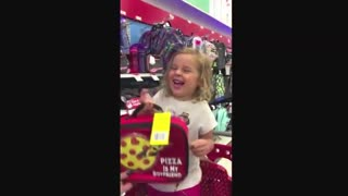 Adorable Little Girl Loves This Funny Lunchbox