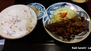 Real Japanese food - Kalbi BBQ and rice for $9! Cheap & Good  - Video