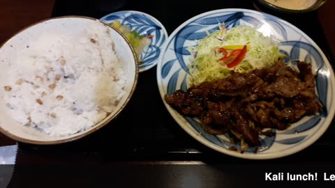 Real Japanese food - Kalbi BBQ and rice for $9! Cheap & Good