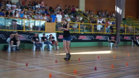When The Music Starts, This Girl Becomes A Skating Champ