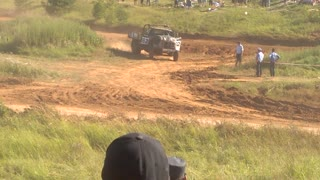Rollover During a ZiL Truck Race - Video