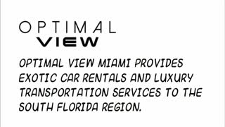 exotic car rental miami - Video